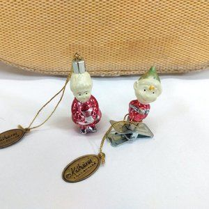 Katherine's Collection LOT OF 2 Mrs. Santa Elf